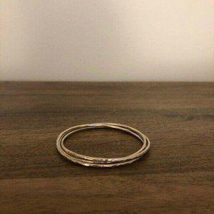 James Avery Silver Triple Linked Hammered Bracelet